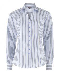 Женская рубашка в синюю полоску T.M.Lewin приталенная Fitted (45192)
