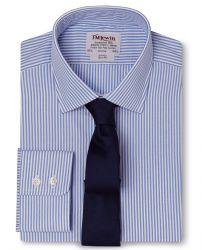 Мужская рубашка в синюю полоску T.M.Lewin приталенная Slim Fit (51283)