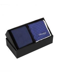 Подарочный набор для мужчин   галстук + платок для пиджака