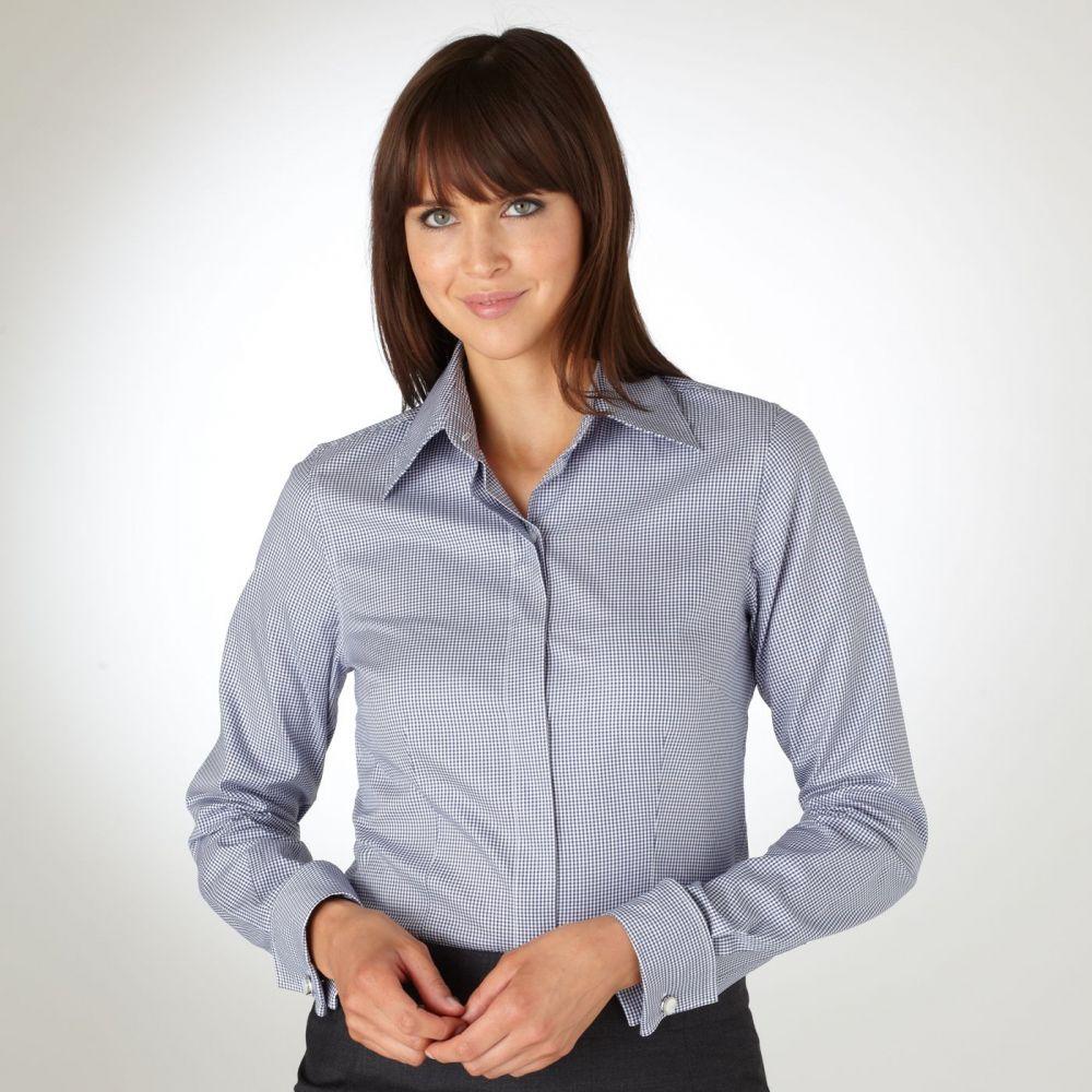 женская рубашка под запонки