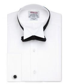 Мужская рубашка под бабочку, под смокинг белая T.M.Lewin сильно приталенная Fitted (55190)