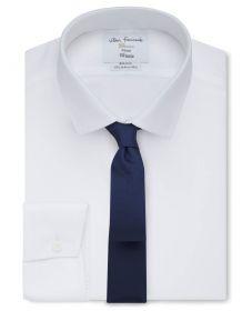 Мужская рубашка белая T.M.Lewin не мнущаяся Non Iron сильно приталенная Fitted (53848)